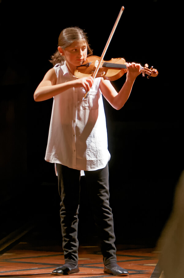 Violin at Recital Evening.
